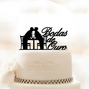 Topo de bolo em acrílico Bodas - tb0007