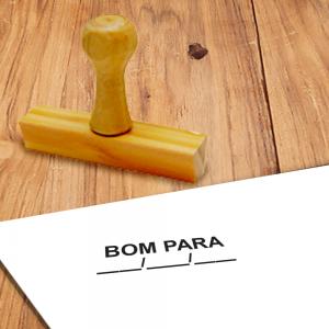 Carimbo de Madeira BOM PARA