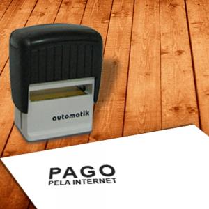 Carimbo Automático  PAGO PELA INTERNET